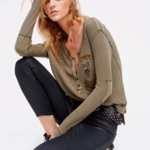 Free People Bridget Henley thermal top
